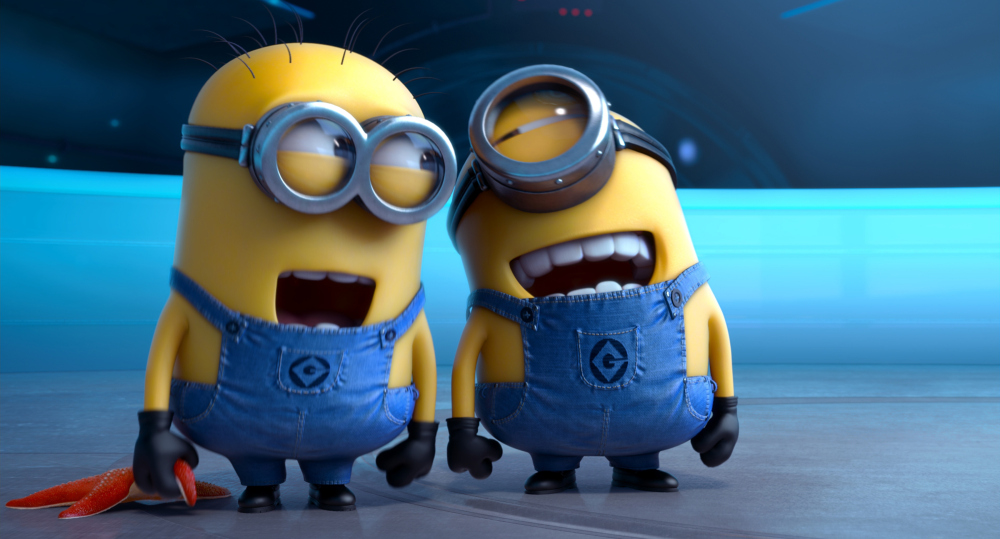 "FILE - This file photo provided by Universal Pictures shows the minion characters in the film ""Despicable Me 2.""  Domestic box office numbers so far on this long Fourth of July holiday weekend are suggesting the the animated minions of family favorite, with a price tag one third of what ìThe Lone Rangerî cost to make, is outperforming the masked man by more than three to one. (AP Photo/Universal Pictures, File) ORG XMIT: NY118"